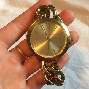 Gold Chain Band Michael Kors Watch